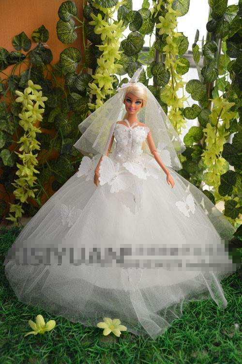 Autonomous design handmade Items For Ladies Doll Equipment Night Go well with Wedding ceremony Gown Garments For Barbie 1:6  Doll BBI0066