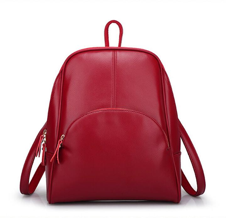 Hot 2015 Korean Style Thread Women Genuine Leather Backpack Fresh Fashion Brand School Bags for Ladies Shoulder Handbag