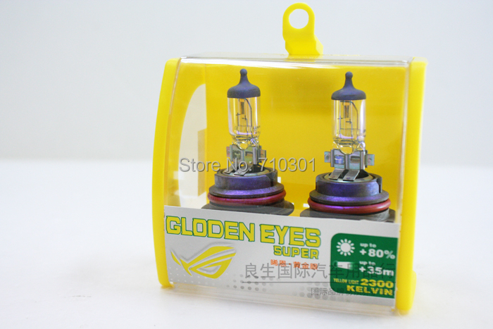 Free shipping fee car headlight XENCN halogen lamp GLODEN EYES SUPER FOG LIGHT 65/55W 12V 2300K HB5 9007 GDE PX29t Made In USA(China (Mainland))