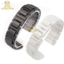 Ceramic watchband strap watch bracelet white or black watch band 14 16 18 20mm woman  wristwatches band wristband accessories
