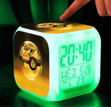 Minion Alarm Clock LED pokemon cartoon game action toy figures Night light batman Electronic Toys Relogio Despertador Digital(China (Mainland))