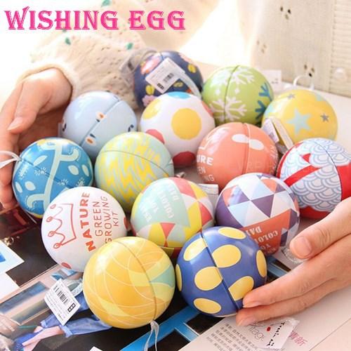 2 pcs/Lot Tin storage box Wishing egg Romantic Message ball for wedding birthday celebration party supplies Novelty gift 6311(China (Mainland))