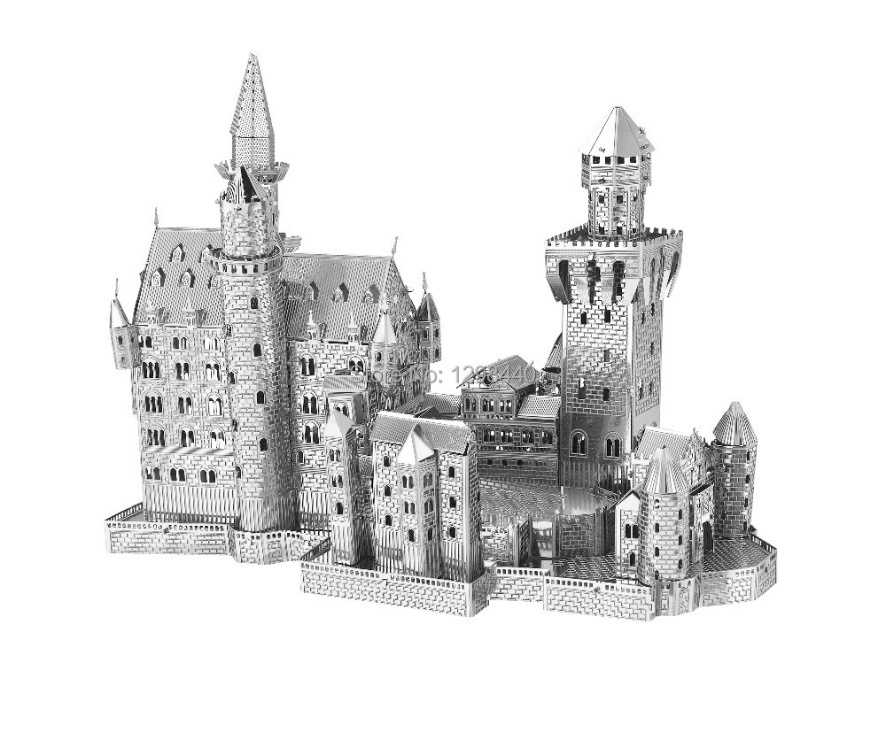 5pcs Famous buildings kids 3D metal puzzle works toys puzz 3D metal silver edition jigsaw DIY craft 3d metal model(China (Mainland))