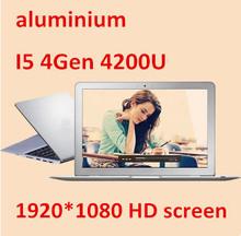 """13.3"""" Intel Core I5 4Gen 1920*1080 HD screen aluminium ultrabook laptop computer 8000mAh battery USB 3.0(China (Mainland))"""
