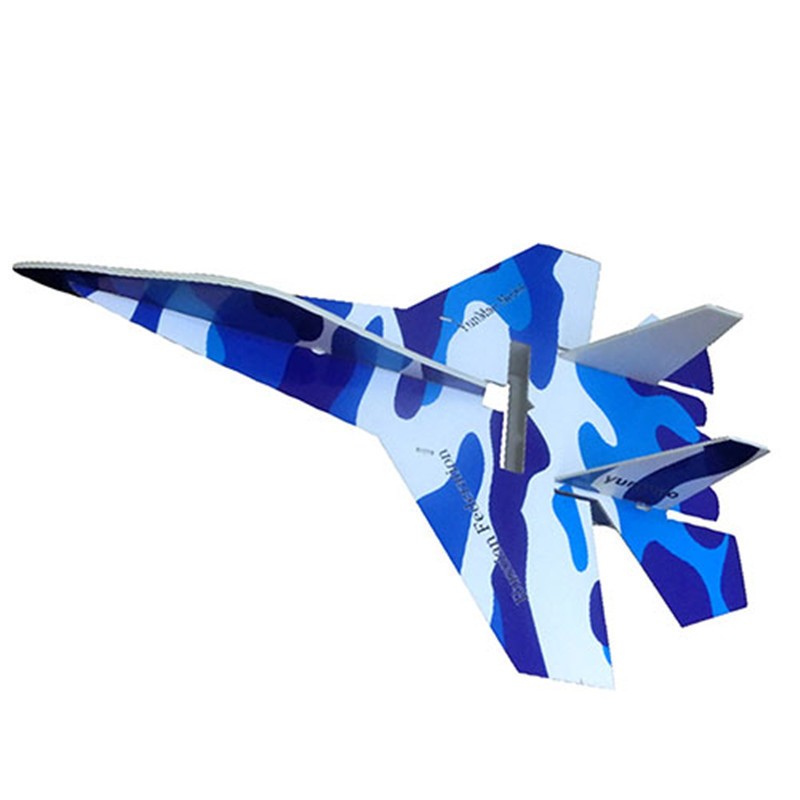 Free shipping 1 Piece su 27 rc plane electric remote control jet airplane kt foam rc airplane with LED Hot Sale(China (Mainland))