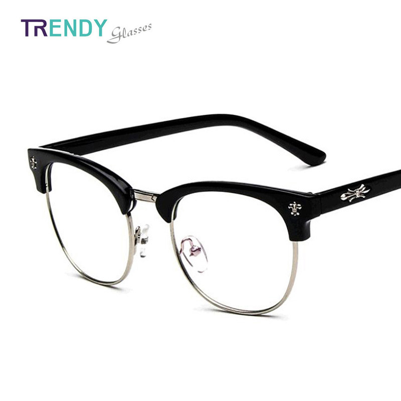 Glasses Frames For Men : 2015 Brand Eyeglasses Frame for Men Women Retro Vintage ...