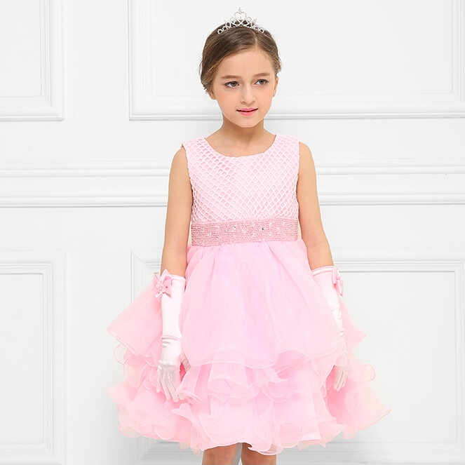 2015 New Brand Kids Dress Design Pretty Kids Clothes Flower Girl Dresses First Communion Dress(China (Mainland))