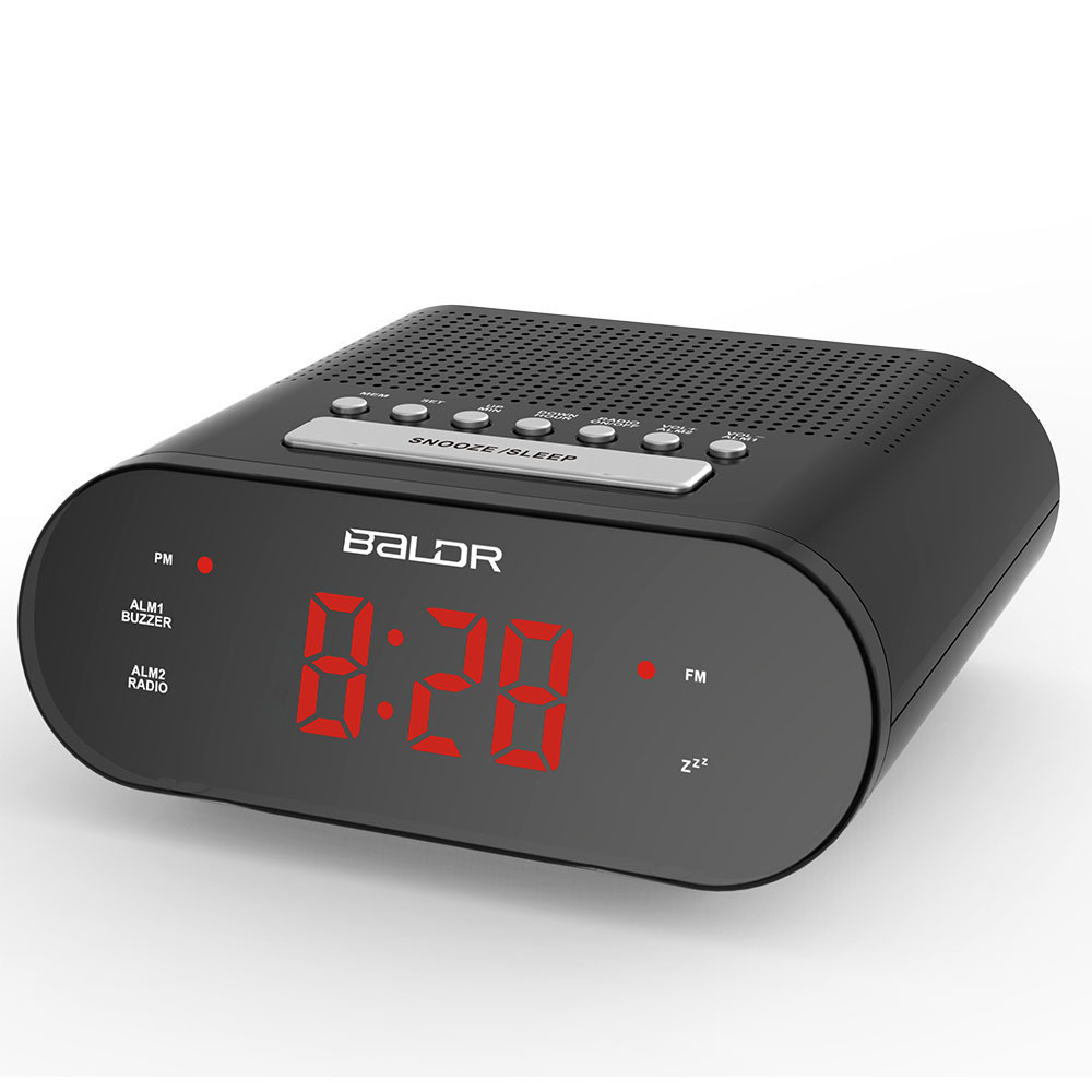 red led digital radio alarm clock dual alarm fm button clock buzzer snooze tabletop watch time. Black Bedroom Furniture Sets. Home Design Ideas