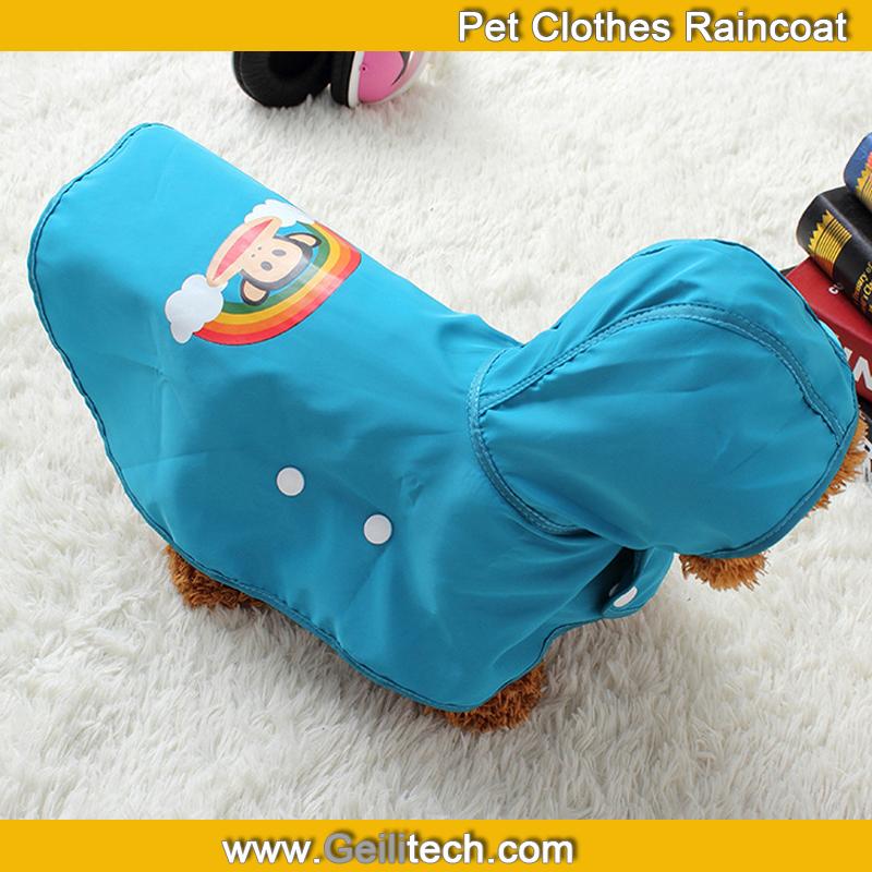 50pcs/lot New Pet Clothes Raincoat Double Dog Raincoat Spring Loaded The Dog Clothing(China (Mainland))