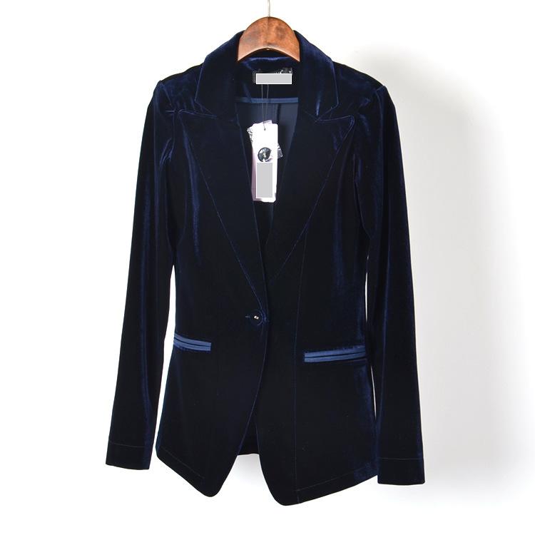 Black velvet blazer women blue velvet blazer women clothing jacket women coat outdoor jacket ...