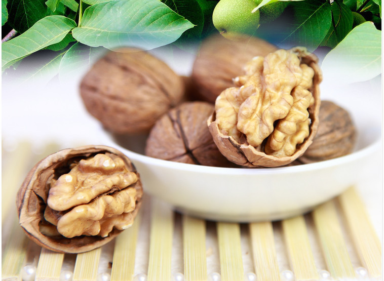 Chinese 2014 snacks nut organic large thin walnut 500g free shipping