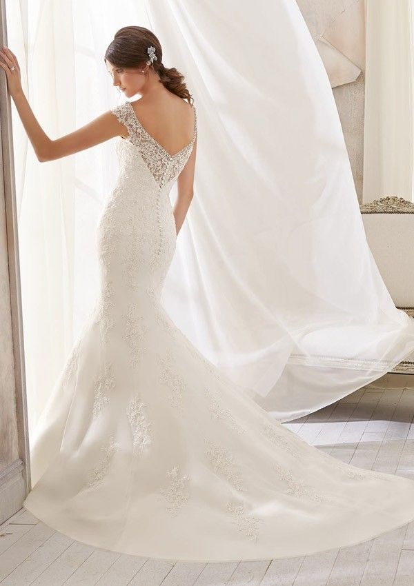 Brautkleider 2016 Sexy V Neck Short Sleeve Wedding Dress Lace Applique ...