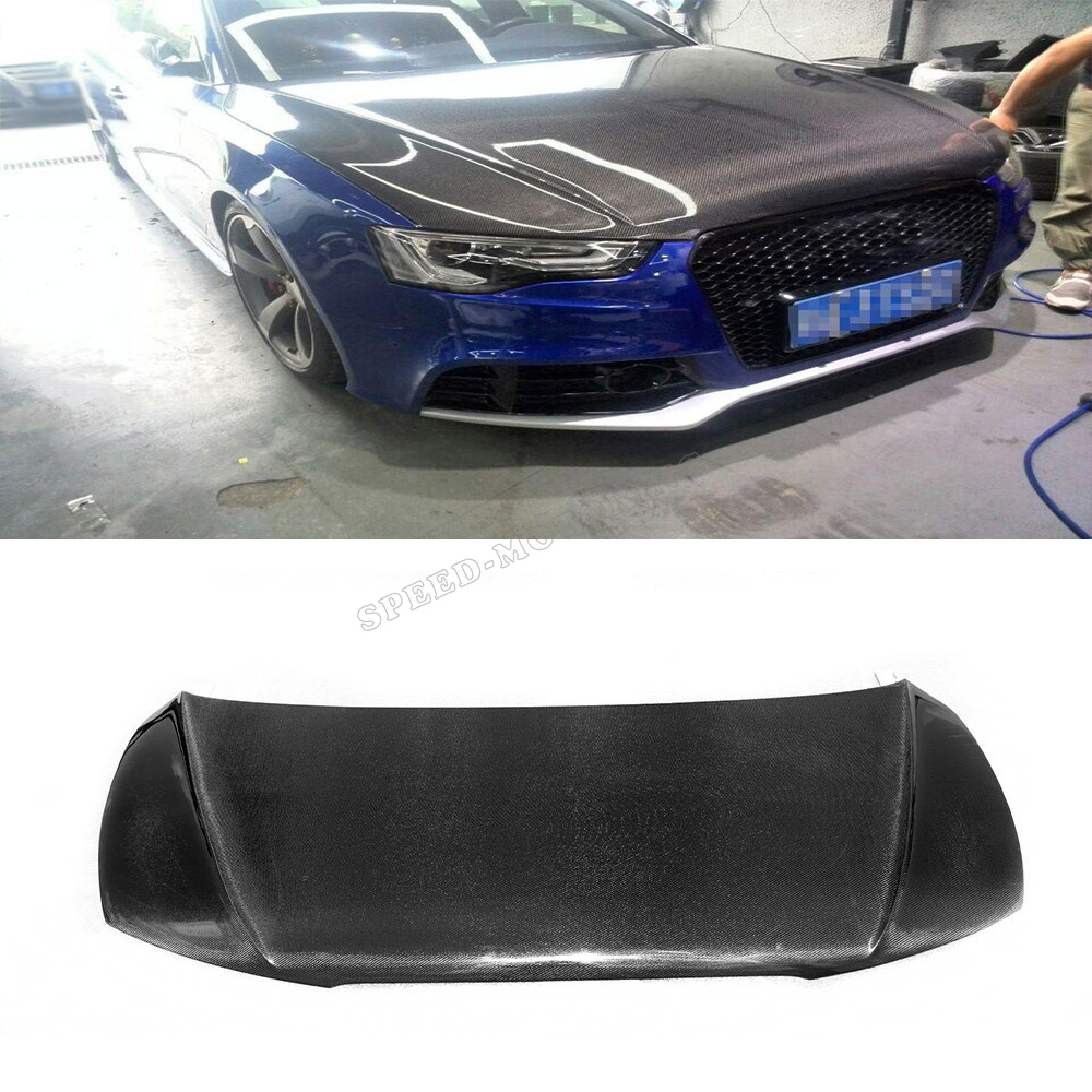 A5 S5 JC style carbon fiber car front hood engine covers for Audi A5/S5 4-Door 2012UP(China (Mainland))