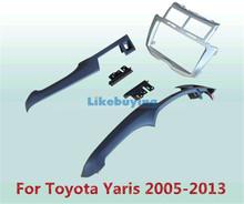 2 Din Car Frame Dash Kit / Car Fascias / Mount Bracket Panel For Toyota Yaris 2005 2006 2007 2008 2009 2010 2011 2012 2013