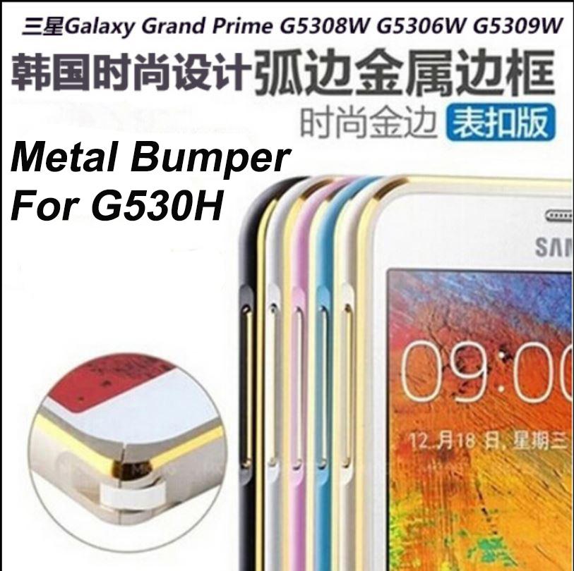 Metal bumper for Samsung Galaxy Grand Prime G530H Ultra-thin Hippocampus Buckle Metal Bumper Aluminium cell phone Case fashion(China (Mainland))