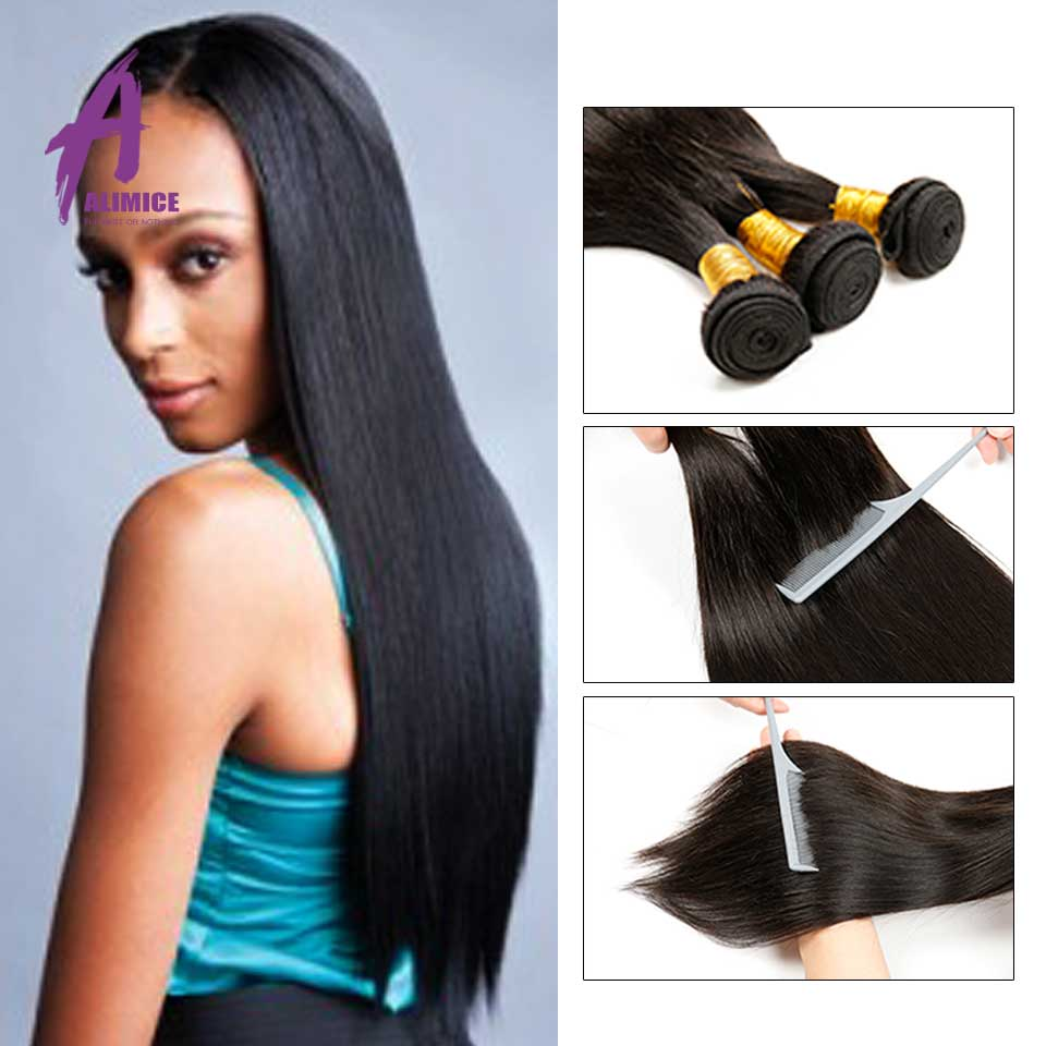 7A Mink Brazilian Virgin Hair Straight 4 Bundles Brazilian Straight Virgin Hair Brazilian Straight Hair Bundles Sunny Queen Hair
