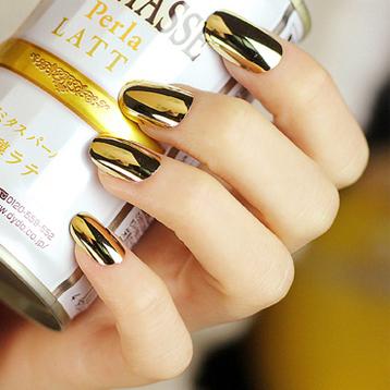 72 pieces/lots gold false nails women fake nails unhas posticas nail tips gold silver design nail(China (Mainland))
