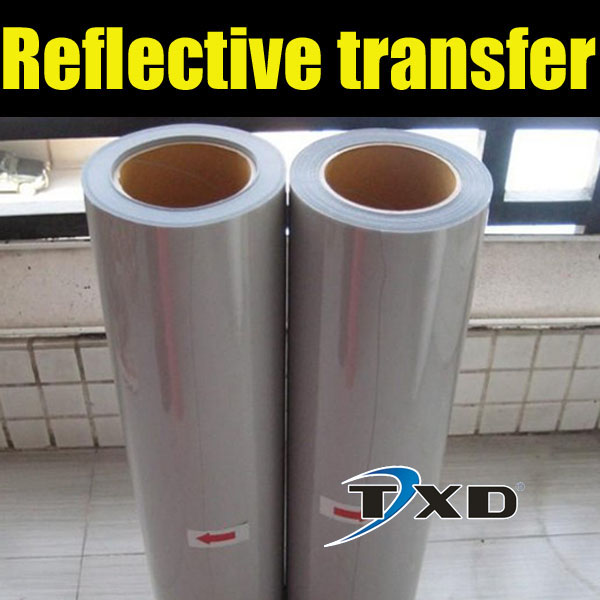 Good quality PU reflect light T-shirt printing transfer film,fabric transfer paper 50CMX100CM/LOT(China (Mainland))
