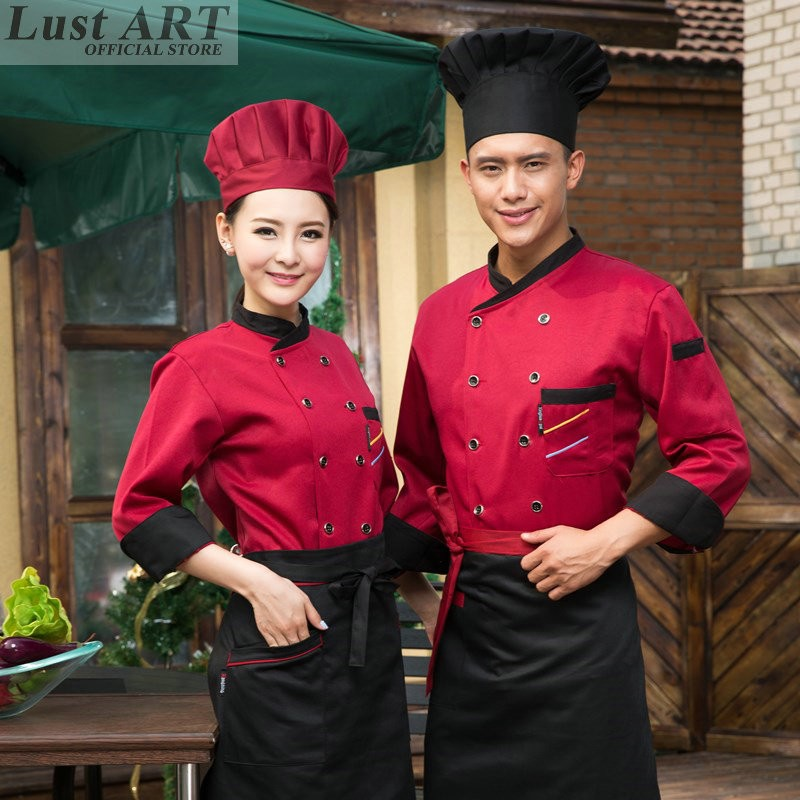 73215798c Food Service chef jacket new chef jacket chinese style restaurant cook  clothes hotel kitchen chef coats uniform B068C