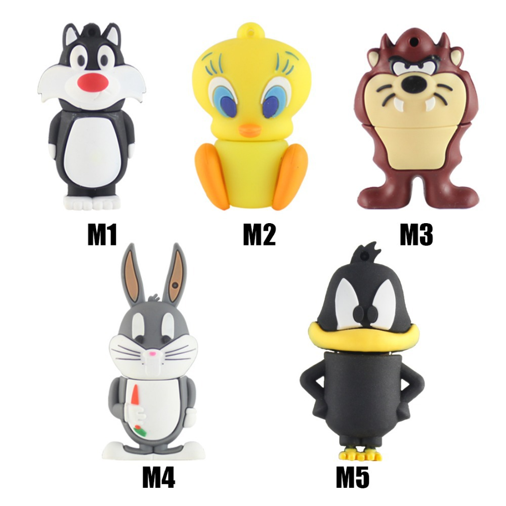 Daffy Duck USB flash drive Bugs Bunny Pen drive 4gb 8gb 16gb 32gb Tweety USB stick Devil pendrive free shipping external storage(China (Mainland))