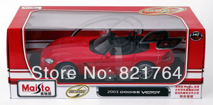 2014 new 1/18 car modle Maisto dodge viper(China (Mainland))