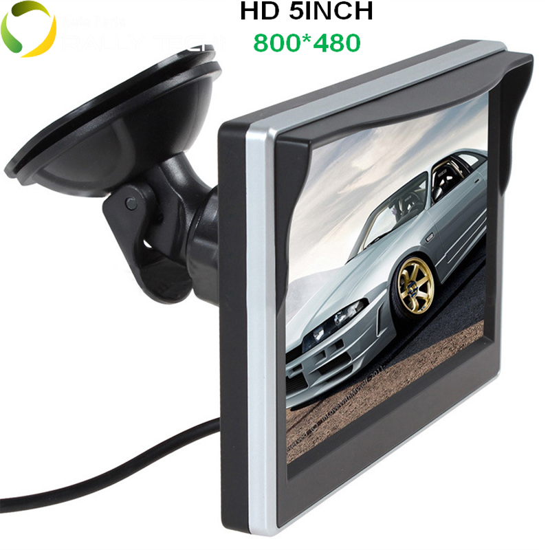 2 Ways Video Input 5 Inch TFT LCD Display 800 x 480 Definition Digital Panel Color Car Parking Monitor For Rear view Camera<br><br>Aliexpress