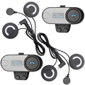 FreedConn Brand LCD Screen With FM Radio 2 pcs BT Interphone Bluetooth Motorcycle Helmet Headset Intercom