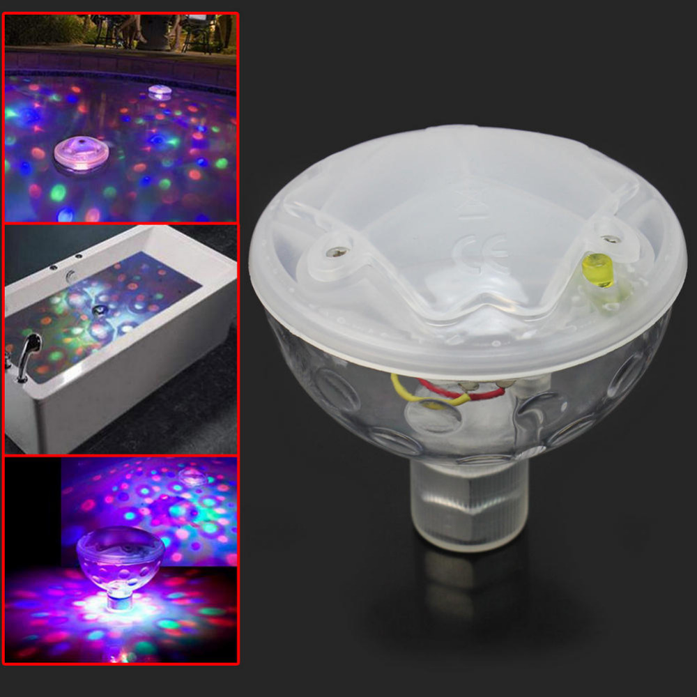 Color Changing Glowing LED Underwater Light Lamb Show Swimming Pool Disco Party Spa Bath Garden Pond Waterproof Lights(China (Mainland))