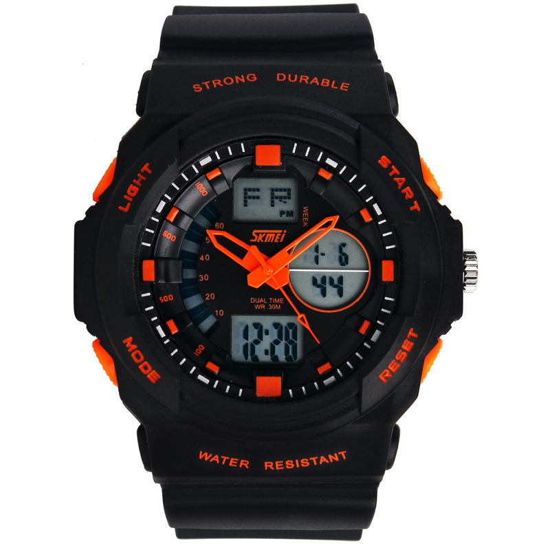 dual movement fashion s shock resistant sport watches for