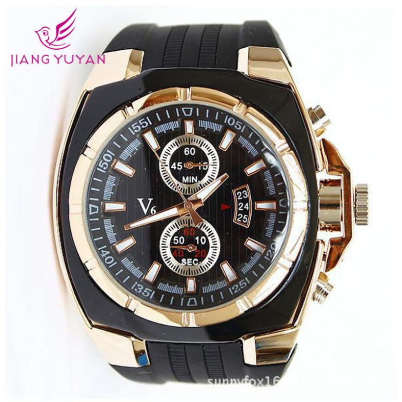 Top brand V6 watches men luxury montre homme Japan movement reloj hombre quartz silicon wristwatches relogio masculino - EPOZZ Watch Official Store store