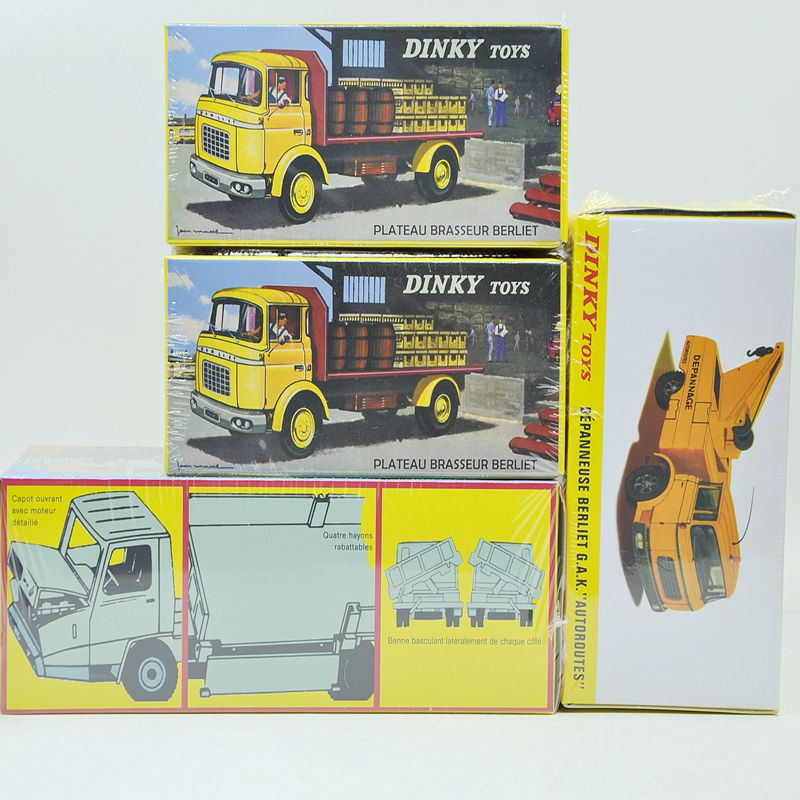 DINKY four models car Alloy Diecast Antique model car TOYS 1/43 the car model for gift or collect(China (Mainland))