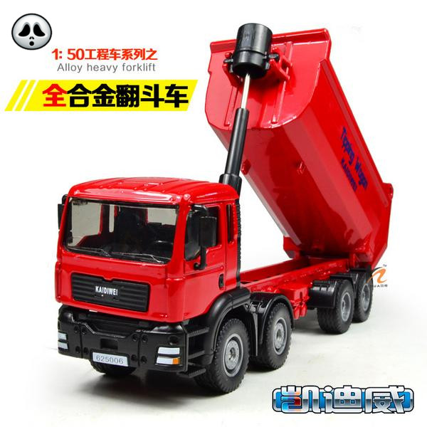 Engineering car wheel series dump-car artificial car model transport vehicle toy decoration collections(China (Mainland))