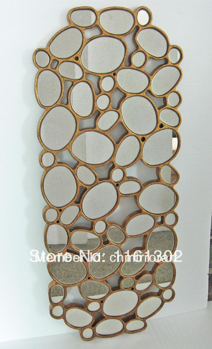 MR-201397 wood frame circles wall mirror art(China (Mainland))