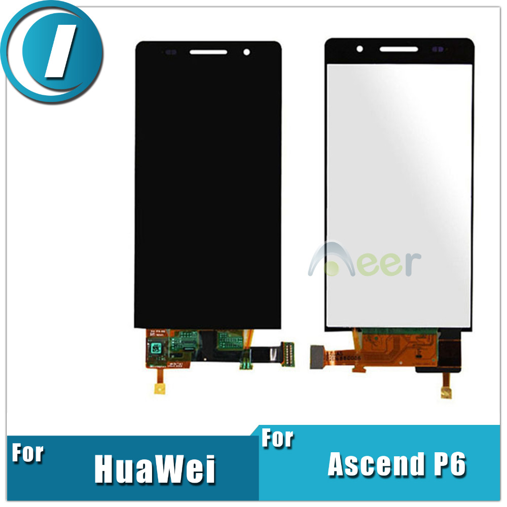 Newest 4.7 inch LCD Display and Touch Screen Digitizer Assembly For Huawei Ascend P6 Replacement Repair Parts Free Shipping(China (Mainland))