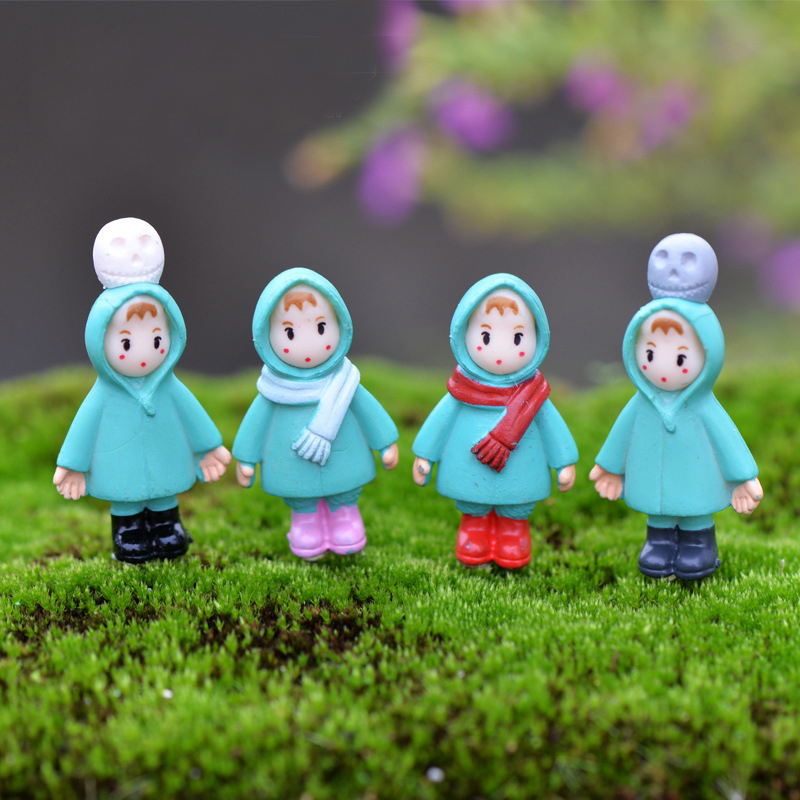 2Pc Girl Christmas DIY Resin Fairy Garden Craft Decoration Miniature Micro Gnome Terrarium Gift(China (Mainland))
