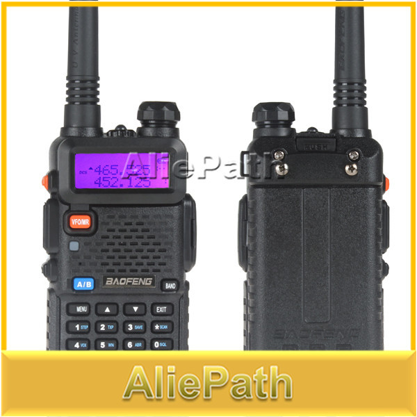 2SET BaoFeng UV-5R Dual Band Transceiver 136-174Mhz & 400-480Mhz Two Way Radio Walkie Talkie with 1800mAH Battery free earphone(China (Mainland))