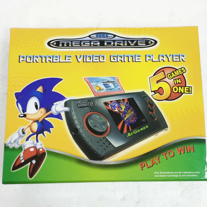 For SEGA Mega Drive Game Console player portable video Game player works built in Games Free shipping(China (Mainland))