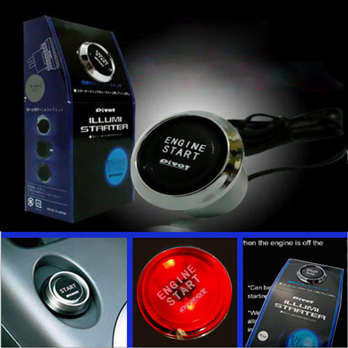 New 2015 Hot Sale 12V Car Engine Start Push Button Switch Ignition Starter Kit LED Free Shipping & Wholesales(China (Mainland))