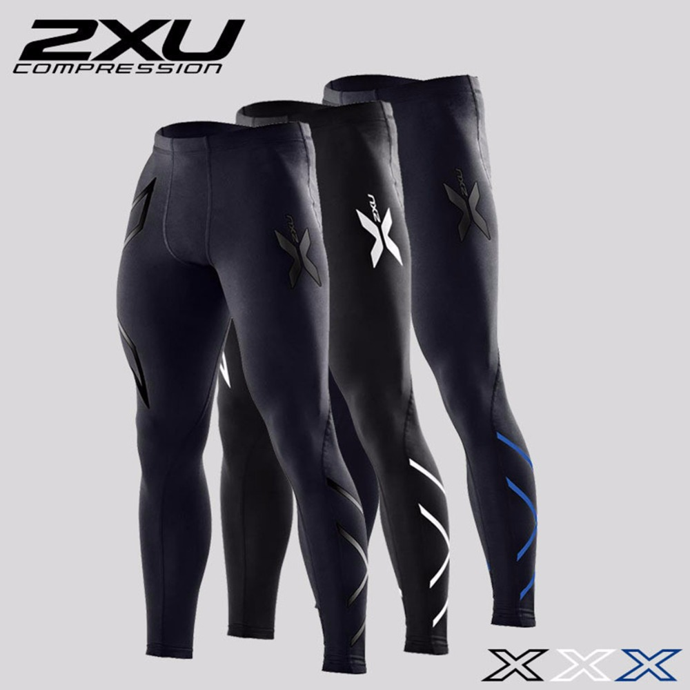 2XU Men's Elite Compression Tights Pants Gym Clothing Trousers Mens Joggers Gymshark Outdoor Sports Brand Apparel Sweatpants(China (Mainland))