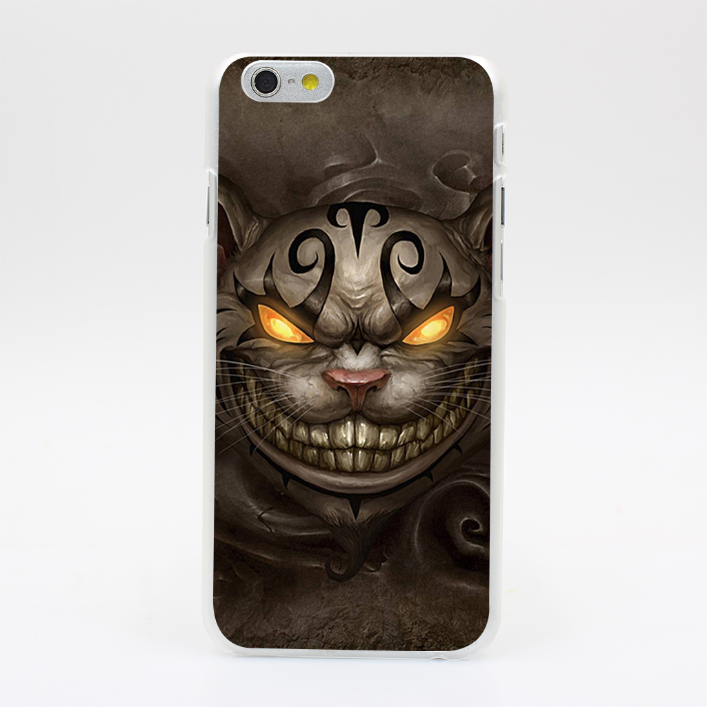 1704U Alice Madness Returns Cheshire Cat Ps Hard Case Cover for iPhone 4 4s 5 5s SE 5C 6 6s Plus Skin Back(China (Mainland))