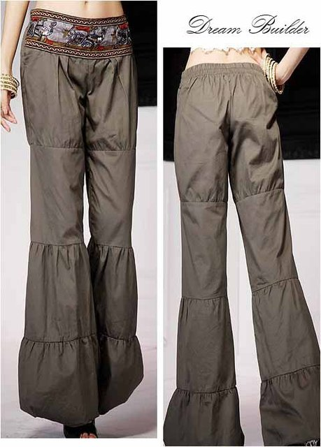 Free shipping women's modern spring/summer discount pants/boot cut new 100% wholesale and retail