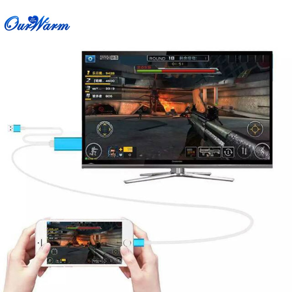 HDMI Video Converter Component AV 2M Cable Connector 5A 12V for iPhone iPad Mini to HDTV(China (Mainland))