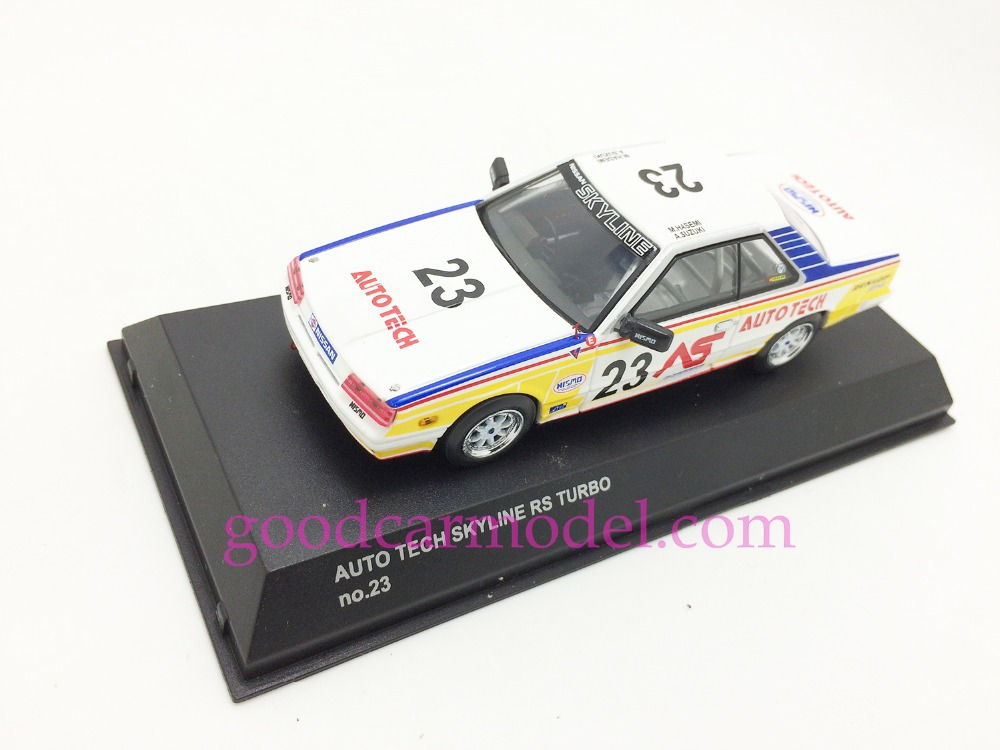 New Kyosho 1:43 Car Model Auto Tech Skyline RS Turbo No.23 03602E Free Shipping From HK(China (Mainland))