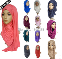 Jersey hijab cotton jersey shawl Retail hijabs pretty scarf 170*50cm, Can Choose Colors, Free Shipping(China (Mainland))