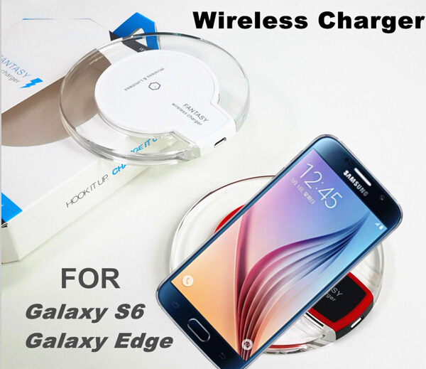 New Universal Qi Wireless Charger Charging Pad for Galaxy S6,Galaxy S6 Edge Moto 360 Smart Watch for Samsung and support more(China (Mainland))