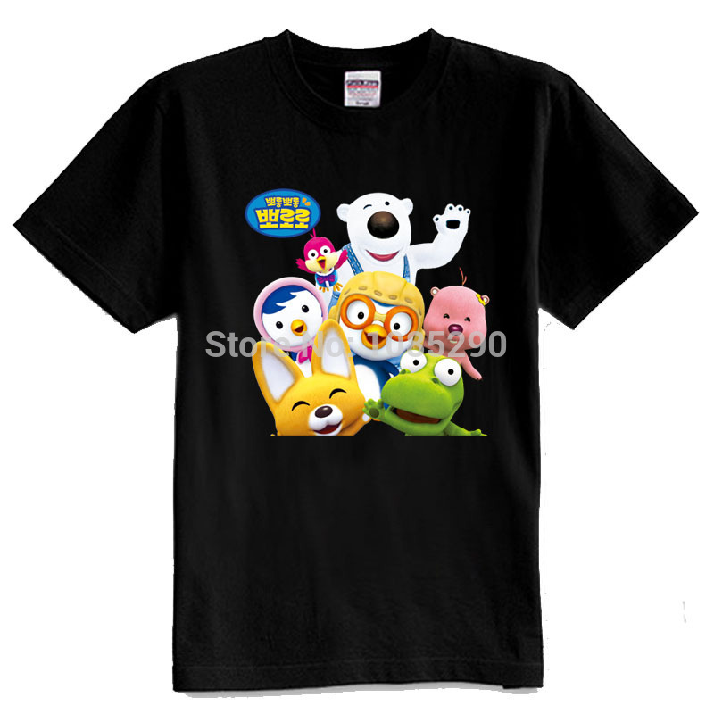 pororo hot sell Pororo plus size t-shirt , summer family T-shirt , for boy &amp; girl clothes short-sleeve t shirt free shipping<br><br>Aliexpress