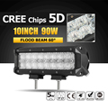 Oslamp 10 90W CREE Chips 5D LED Light Bar Flood LED Work Light Bar Offroad Driving