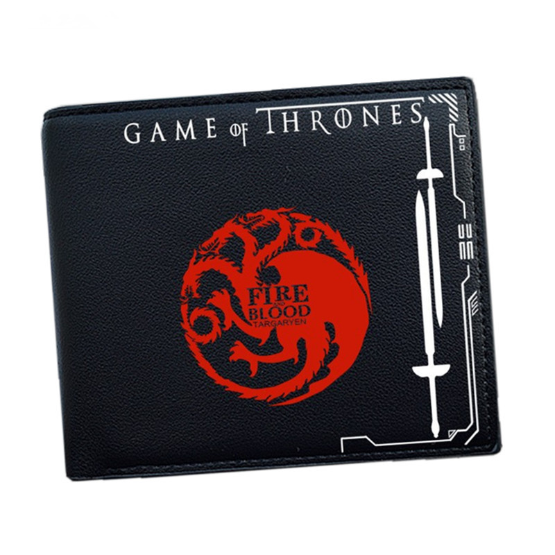 Game of Thrones Wallet 9 House Blood and Fire Winter is Coming Short Wallets With Card Holder Men Purse Wallet Dollar Price