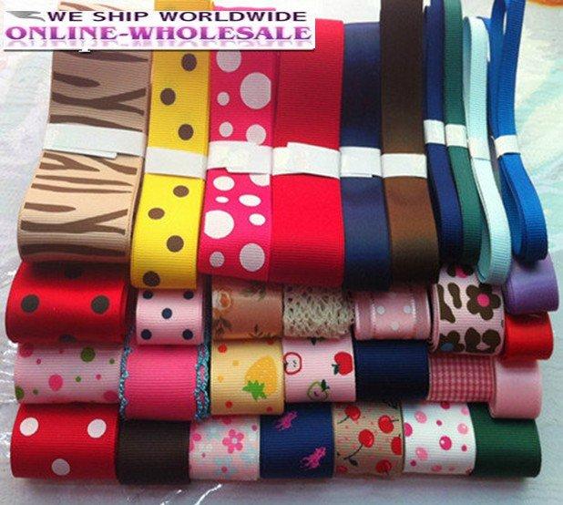 Mix sizes and colors grosgrain ribbon set,32 yards great mixture DIY ribbons set,DIY hair ornament,creative DIY ribbon kit(China (Mainland))