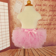2016 Baby Tutu Skirt with Bow Cotton Baby Culottes Skirt Elastic NewbornTutu for Photography Props PP Super Soft Net Veil Tutu(China (Mainland))